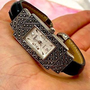 CHICO'S Bezeled Rectangle Wrist Cuff Watch